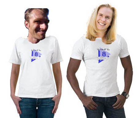 Betsy & Matt 8on8 t-shirts