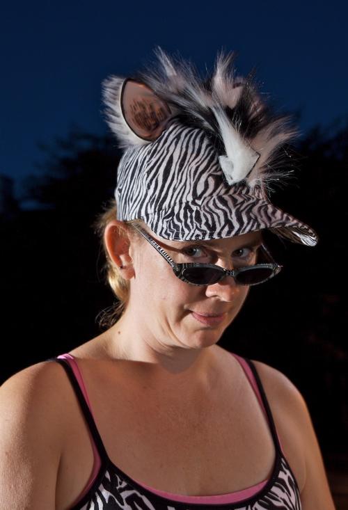Zebra hat